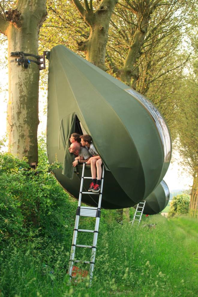 Viseči šotori Tanendreef (Foto: Kristof Vrancken)