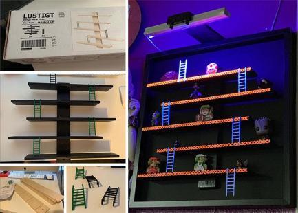 """""""Tole sem naredil iz polic IKEA. Uporabil sem okvir v velikosti 19x19. Moram sem kupiti dvoje polic Lustigt, da sem imel dovolj lestev."""" Foto: Boredpanda"""