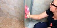 Line blir kvitt kalk i dusjen