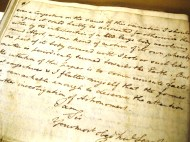 Original letter to Royal Society handwritten by John Goodricke