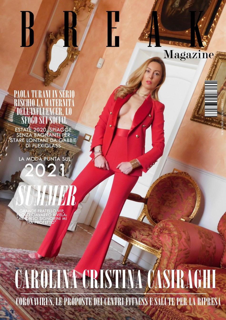 Carolina Cristina Casiraghi cover break magazine