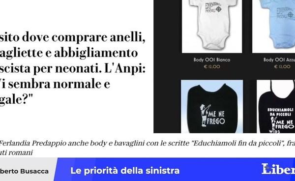 """""""vietare-i-bavaglini-del-duce"""".-si-muovono-pd,-anpi-e-repubblica:-ecco-l'ultima-crociata-della-sinistra"""