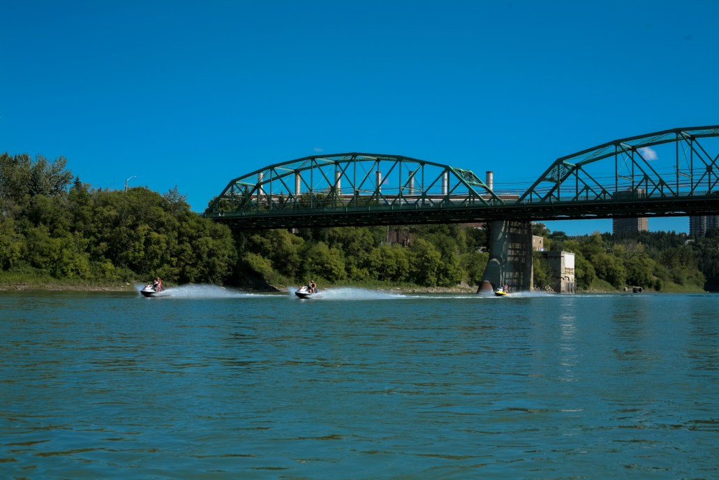 Recreational activities abound on the North Saskatchewan River