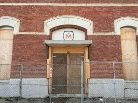 The former entrance of the Molson brewery.