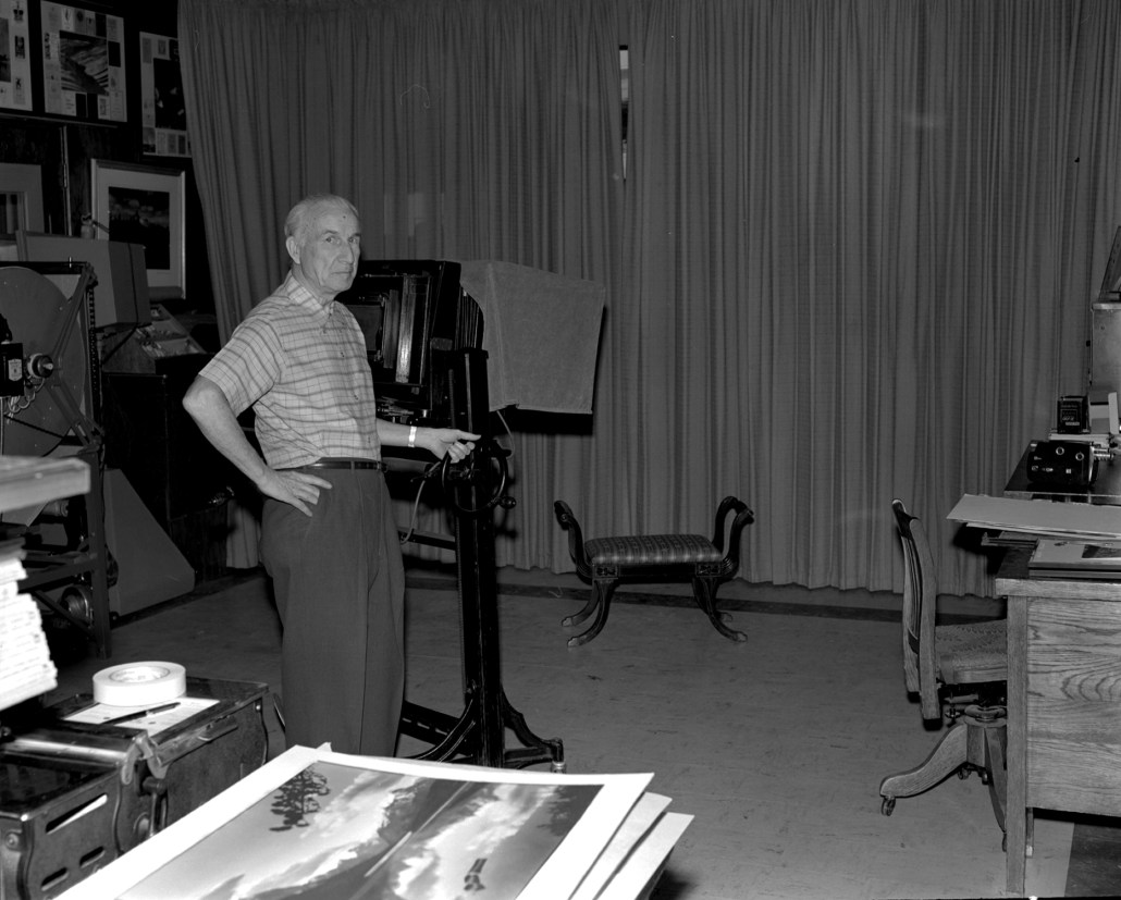Alfred Blyth in his studio, April 20, 1972. Provincial Archives of Alberta, A9877.