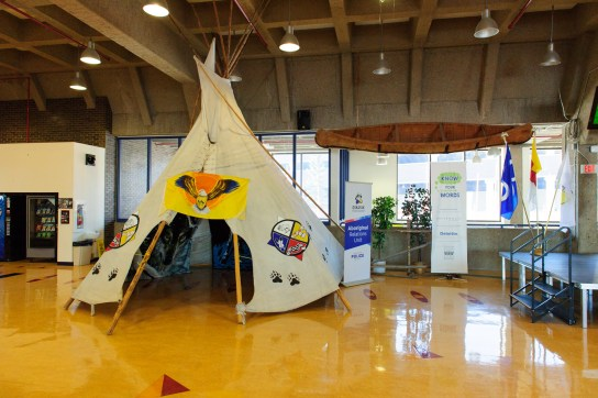 Traditional culture is an integral part of life at amiskwaciy Academy. Photo provided by the Bissell Centre.