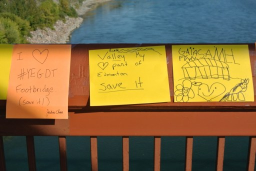 Comments left on the bridge, Photo © Kristine Kowalchuk 2014
