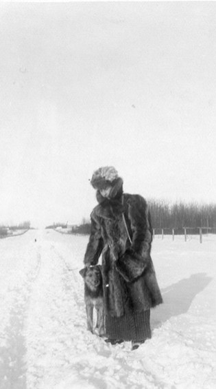 Marie Polet, dressed for Winter. City of Edmonton Archives, EA-10-1755.