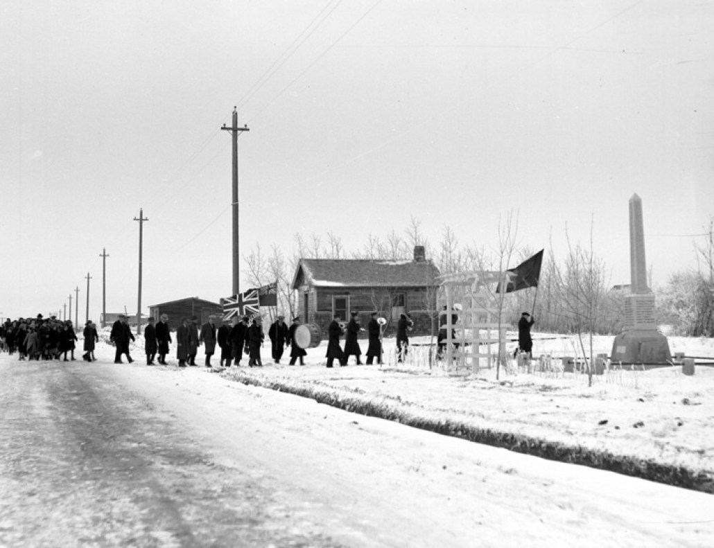 Beverly Memorial Service on November 11, 1938. Image courtesy of the City of Edmonton Archives EA-160-336