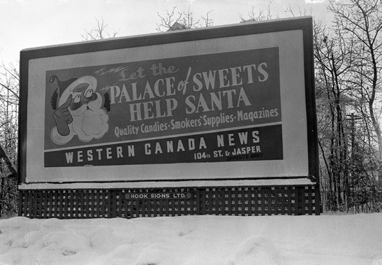 Palace of Sweets Sign from the Hook Signs Fonds. Image courtesy of the City of Edmonton Archives.