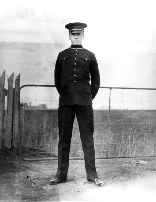 Alex Decoteau in police uniform, 1911. City of Edmonton Archives, EA-302-82.