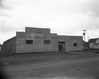 Calder Community Hall, April 26, 1949. City of Edmonton Archives, EA-600-2310b.