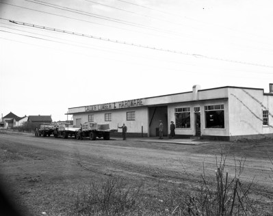 Calder Lumber and Hardware Building, 12007 129 Avenue, April 26, 1949. City of Edmonton Archives, EA-600-2310e.