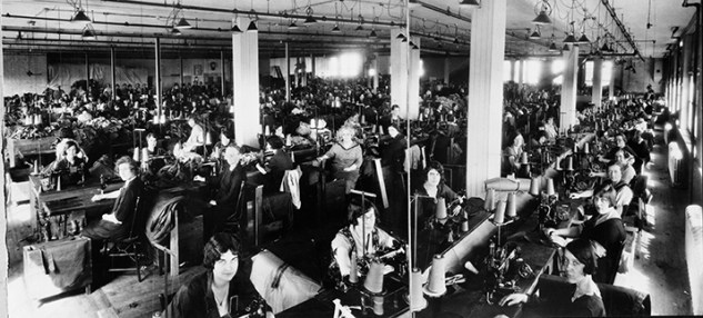 Great Western Garment Factory - Interior circa 1929. Image courtesy of the City of Edmonton Archives EA-64-185.