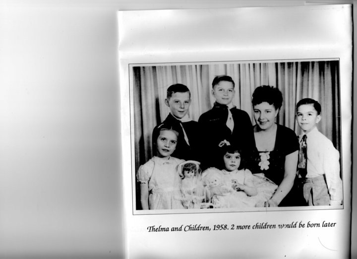 Thelma Chalifoux and Children, c. 1958. Image courtesy of Sharon Morin.