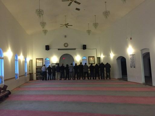 Interior, Muslim Community of Edmonton Mosque in Garneau. Photo by Umar Akbar.