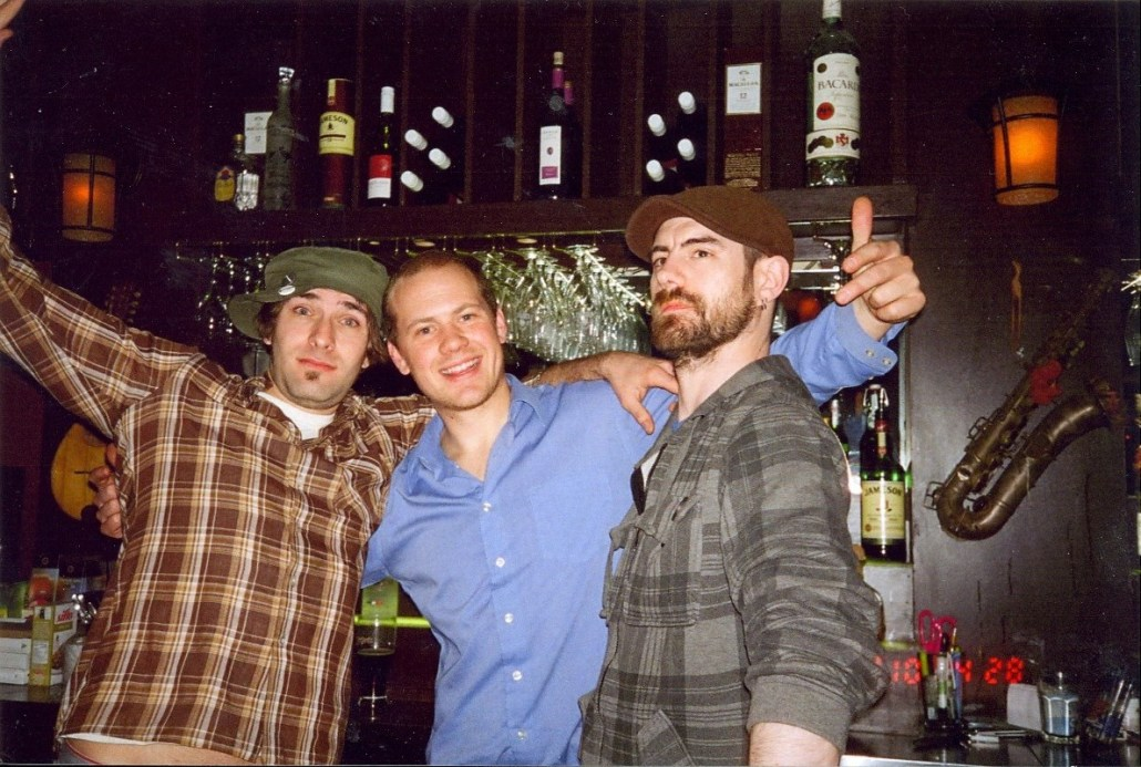 From left to right: Chad Rivard, Ian Morris, Rob Vollick. Photo courtesy of Ian Morris.