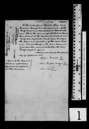 Adhesion of Edmonton Chief to Western Treaty No. 6. Image courtesy of the Library and Archives Canada - IT 304, Online MIKAN no. 3980249.
