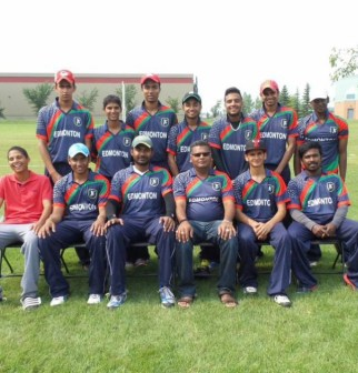 Cricket team at Victoria Park. Photo by Umar Akbar.