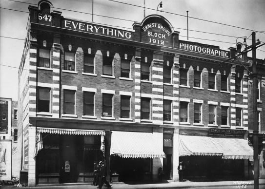 Ernest Brown Block, 1914. Glenbow Archives, NC-6-1165.