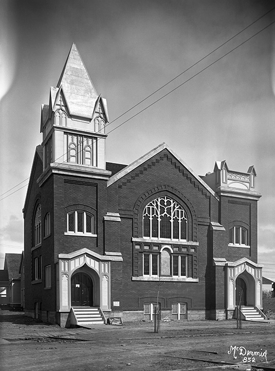 First Scandinavian Lutheran Church, 1914. Image courtesy of the Glenbow Archives NC-6-852.