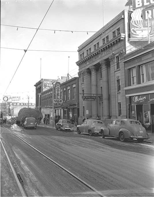 Royal Bank of Canada, February 21, 1950. City of Edmonton Archives, EA-600-3905p