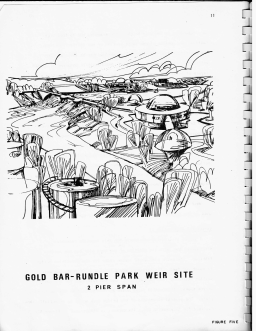 Artist contribution to the plans for Gold Bar Rundle Park site. Image Courtesy of the City of Edmonton Archives, G.P. 2321/1974/March C.2: Alberta Environment - Environmental Planning & Research Services, prepared by E.E. Ballantyne, R.E. Bailey, & T.V. Mussivand.