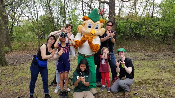 Park Rx Day participants with Woodsy Owl