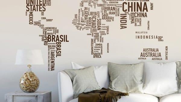 88cm(w) × 125cm(h) (34.6″ × 49.2″ Stile E Originalita In Casa Con Gli Adesivi Murali Come Applicarli Al Muro