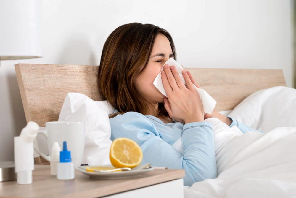 Los síntomas de la influenza
