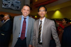 MLA Dr Chris Bourke and Ziaul Hoque