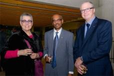 Jo Ferguson, Sri Lankan deputy high commissioner of Sri Lanka A.L. Ratnapaia and Malcolm Snow