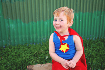 Harrison Wordsworth, 4, has the genetic spinal and bowel condition Currarino Syndrome. At the risk of never walking again, his spinal cord was untethered and a tumour removed from his spine just before his second birthday. Photo by Belle Garfath