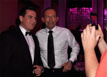 Matthew Serafin and PM Tony Abbott