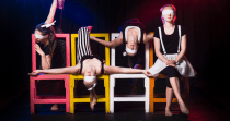 "Warehouse Circus' ""Refract""... probably  more dizzying than refractive."