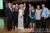 Haydan and Kelly Turner, Lara Ollquist, Nick Medway, Senator Zed Seselja with wife Ros and Rachel and Steve Manns