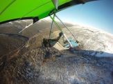 Thredbo valley and about to fly over the alps