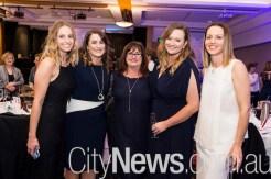 Chloe Hoitink, Angela Woodhouse, Karen Hoitink, Brianna O'Brien and Susan Chant