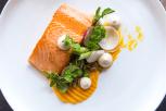 baked-ocean-trout-hollandaise-spring-vegetables