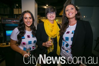 Alyson Pazios, Penny Hardy and Clare Flannery