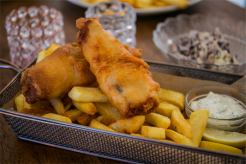 Bonkers' fish and chips. Photo Maddie McGuigan