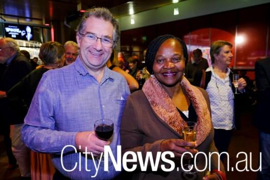 Peter Davie and Lydia Mensah