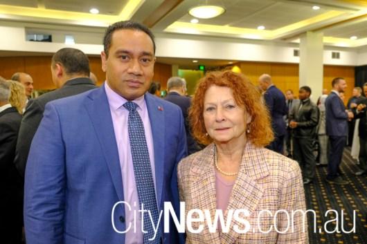 Curtis TuiIhalangingie and Dr Myriam Amar
