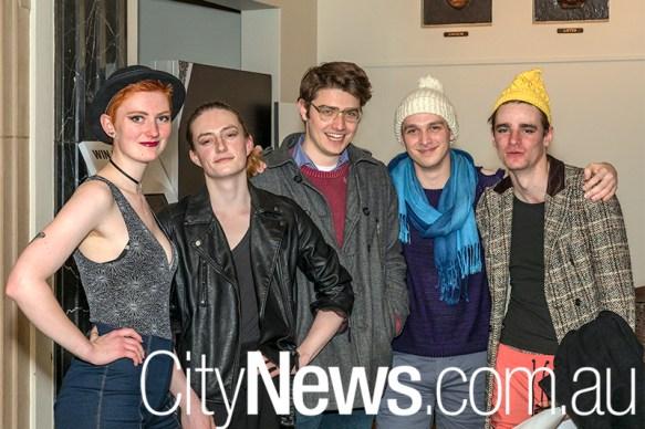 Beth Kerr, Alex Adorni, Michael Petkovic, Keenan Smith and Dominic Stenson