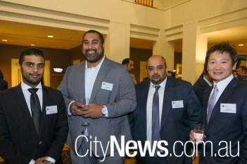 Fahad Al-Hamar, Philemon Toleafoa, Khurram Hayat and Jack Shimada