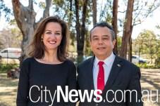 Kate Logan and Mexican ambassador Eduardo Peña Haller