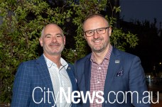 Anthony Toms and Chief Minister Andrew Barr