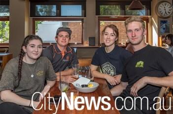 Gabby Coates, Adam Taylor, Rhiannon Drysdale and Jacob Heron