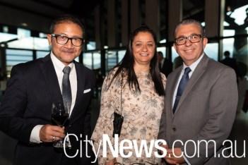 Indonesian ambassador Kristiarto Legowo, Fatine Medrek and Moroccan ambassador Karim Medrek