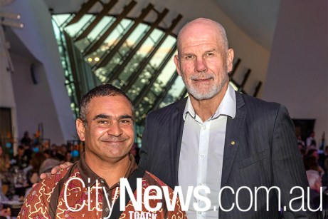 Richie Allan with guest speaker Peter FitzSimons
